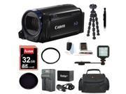 Canon Vixia HF R600 Camcorder (Black) with 32GB Deluxe Accessory Bundle