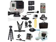 GoPro HERO3+ Black Edition Camera + Two Sony 64GB MicroSDHC Card + Tripod + Hard Shell Action Camera Case + Deluxe Accessory Kit