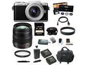 Panasonic Lumix DMC-GF7KK Mirrorless Digital Camera with 12-32mm f/3.5-5.6 ASPH. Lens + Panasonic H-HS12035 LUMIX G X VARIO 12-35mm/F2.8 ASPH X Series Lens + 64GB Accessory Bundle