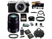 Panasonic Lumix DMC-GF7 DMC-GF7KK Mirrorless Digital Camera with 12-32mm f/3.5-5.6 ASPH. Lens (Black and Silver) plus Panasonic H-HS35100 35-100mm Lens   and 64GB Deluxe Accessory Bundle
