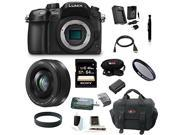 Panasonic LUMIX DMC-GH4KBODY 16.05MP Digital Single Lens Mirrorless Camera with Panasonic Lumix G H-H020AK 20mm F/1.7 II ASPH Lens plus 64GB Deluxe Accessory Bundle