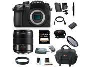 Panasonic LUMIX DMC-GH4KBODY 16.05MP Digital Single Lens Mirrorless Camera with Panasonic Lumix G Vario 14-140mm f/3.5-5.6 Lens (Black) plus 64GB Deluxe Accessory Bundle
