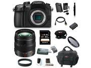 Panasonic LUMIX DMC-GH4KBODY 16.05MP Digital Single Lens Mirrorless Camera with Panasonic H-HS12035 LUMIX G X VARIO 12-35mm/F2.8 ASPH X Series Lens plus 64GB Deluxe Accessory Bundle