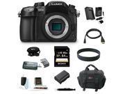 Panasonic LUMIX DMC-GH4K DMC-GH4KBODY GH4 16.05MP Digital Single Lens Mirrorless Camera with 64GB Deluxe Accessory Bundle