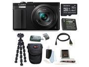 Panasonic DMC-ZS50K LUMIX 12.1MP Digital Camera (Black)  with 32GB Accessory Bundle