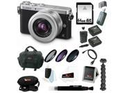 Panasonic LUMIX DMC-GM1KS Compact System Camera  12-32mm Lens Kit + Sony 64GB SDHC +37mm Filter Kit + Two Batteries + Charger for Panasonic BLH7 + Focus Card Reader + Focus Case + Accessory Bundle