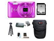 Nikon S6900 Coolpix Camera (Pink) with 16GB Accessory Kit