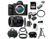 Sony Alpha a7II ILCE-7M2/B Interchangeable Digital Lens Camera (Body Only) and Sony Sonnar T* FE 55mm  Full-frame E-mount Prime Lens with Sony 64GB Bundle