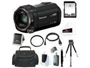 Panasonic HC-V770 HD Camcorder with Wireless Smartphone Twin Video Capture with 64GB SD Card, 49mm Tifffen UV Filter, Deluxe SLR Case and Accessory Bundle