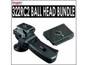 Manfrotto 322RC2 Horizontal Grip Action Ball Head With Extra RC2 Rapid Connect Plate 200PL