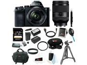 Sony a7: 24.3MP a7R ILCE7K/B Full-Frame Camera w/ 28-70mm Lens and 24-240mm Lens +64GB Deluxe Accessory Bundle