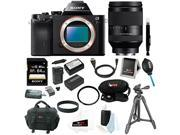 Sony a7r: 36.3 MP a7R Full-Frame Interchangeable Digital Lens Camera (Body Only) with 64GB Deluxe Accessory Bundle
