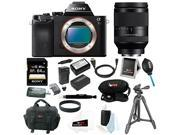 Sony a7S Full Frame Mirrorless Interchangeable Lens Camera Body with Sony FE 24-240mm F3.5-6.3 OSS Lens and 64GB Deluxe Accessory Bundle