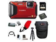 Panasonic DMC-TS6R DMC-TS6 (TS6) LUMIX WiFi Enabled Tough Adventure Camera (Red) with 32GB DeluxeAccessory Bundle