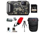 Panasonic DMC-TS6 LUMIX Tough Adventure Camera (Camouflage) with 16GB Deluxe Accessory Bundle
