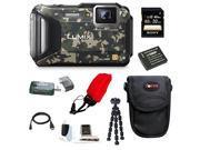 Panasonic DMC-TS6 LUMIX Tough Adventure Camera (Camouflage) with 32GB Deluxe Accessory Bundle