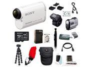 Sony AS200V/R Action Cam Bundle with RMLVR2 Live-View Remote and 64GB Accessory Kit