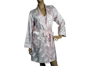 Lovely Day Lingerie Women's Pink Cotton Jacquard Robe