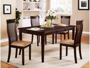 5-Piece Rectangular Dining Set (Espresso)
