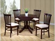 5-Piece Round Dining Set (Espresso)