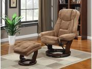 Primo International Kathy Ireland Swivel Recliner Chair with Ottoman (Beige)