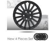 "14"" Black Color Mat Finished Hubcap Covers Brand New Set of 4 Pieces 521"