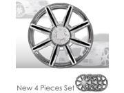 "14"" 8 Spikes Chrome Finished Hubcap Covers Brand New Set of 4 Pieces 14 Inch Rim Cover 541"