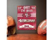 San Francisco Forty-Niners Vintage Metal Sign