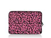 "Pink Leopard bow 15"" 15.4"" 15.6"" inch Notebook Laptop Case Sleeve Carrying bag for Apple MacBook Pro 15 15.4 /Dell Inspiron 15R Alienware M15X /ASUS A55 K55 N56/Sony E15 S15 EL2/ThinkPad E530"