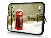 """Red Phone Booth 17.1"""" 17.3"""" inch Laptop Bag Sleeve Case for Apple MacBook pro 17/Dell Inspiron 17R Alienware M17x/Samsung 700 Sony Vaio E 17/HP dv7 ENVY 17/Asus G74 K73 N75 A93"""