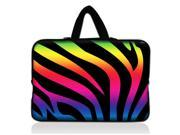 "Color Zebra 13"" 13.3"" inch Notebook Laptop Case Sleeve Carrying bag with Hide Handle for Apple Macbook pro 13 Air 13/Samsung 530 535U3/Dell XPS inspiron 13/ ASUS/SONY SD4/ThinkPad X1 E330"
