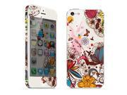 For Apple iPhone 5 Skins Butterfly Flower Full Body Decals Protector Stickers Covers - MAC1208-45