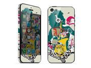 For Apple iPhone 5 Skins Music Girl Full Body Decals Protector Stickers Covers - MAC1208-143