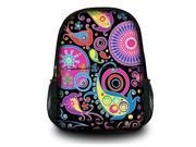 """13"""" 14"""" 15"""" Canvas Satchel Backpack Laptop College School Book Backpack Travel Bag Rucksack Shoulder Bag - Colorful Paisley SB-15914"""