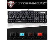 Motospeed Compact Mechanical Gaming Keyboard with OUTEMU Blue Key Switches