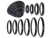 26-30-37-43-52-55-62-67-72-77-82mm Metal Step Up Rings Lens Adapter Filter DC160