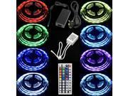 Set 10M LED Strip RGB 5050 SMD Light IR Remote Controller Power Adapter (UK PLUG)LD172