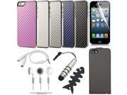 16in1 Bundle Set For iPhone 5 Bundle Set Flip Case Fashion Hard Case Cover