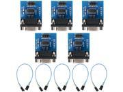 XCSOURCE® 5 PCS MAX3232 RS232 Serial Port To TTL Converter Module Connector + cable TE178