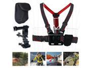 Rangers® Chest Mount Harness Body Strap Rig +3Way Adjustment Base +Carry Bag for Go Pro HERO 4 3+ 3 2 HD SJ4000 RA005