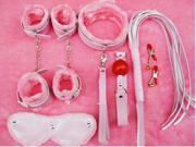 xcsource® Sex products8 pcskit Adult Games pink PU Leather Fetish sex bondage Restraints gag Queen whip for couples sex toys XS018