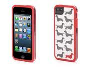 Griffin White and Red Doxie Separates Case for iPhone 5/5s   Protective two-piece case with see-through graphics