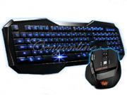 AULA Blue LED Backlight Multimedia USB Gaming Keyboard +2000 DPI Ergonomic Game Mouse Support OS Windows 98/2000/ME/XP 32bit Vista/Win7 32/64bit/Mac