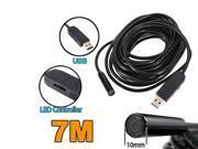 7M 4 Led USB Borescope Endoscope Home Waterproof Inspection Snake Tube Camera