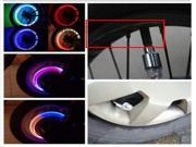 Cycling Bike Bicycle Car Tyre Wheel Valve Stem Cap LED Light Lamp Bulb Blue