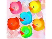 3x Baby Bath Toy Yellow led rubber Duck Multi Color LED Lamp Light xmas decoration gift christmas gift