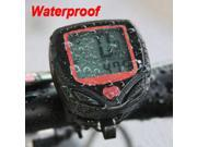 New LCD Display Cycling Bicycle Bike Computer Odometer Speedometer Waterproof NR