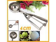4cm Stainless Steel Ice Cream Scoop Muffin Mix Cookie Dough Spoon Potato Masher