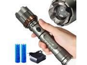 UltraFire CREE 2000Lm XM-L T6 LED Zoomable Flashlight 18650 With Charger