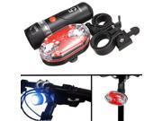 Cycling Bike Head & Tail Light Set Front Rear Waterproof Flashlight Lamp